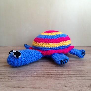 Small crocheted tortoise