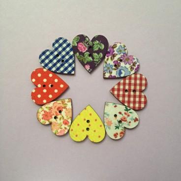 Buttons heart 2 (5 pcs)